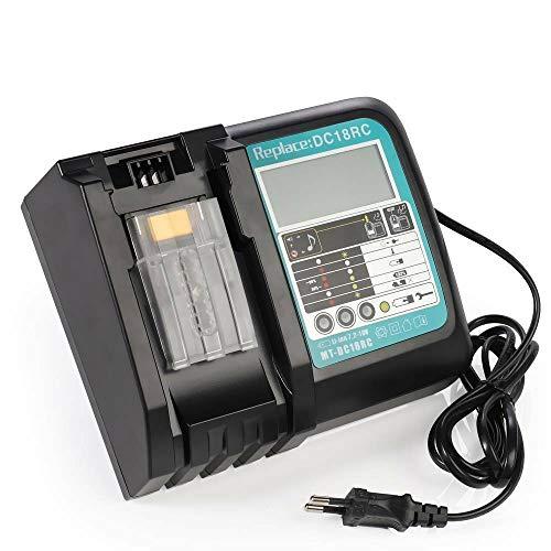 Cargador DC18RC 3A repuesto para Makita 14,4V ~ 18V batería BL1860 BL1850 BL1840 BL1830 BL1820 BL1815 BL1430 BL1415 on indicador LED