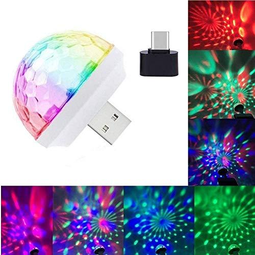 ZIYUME USB Mini Disco Lampen, Sound Control DJ Licht Kleurrijke Strobe RGB Lamp, LED Auto USB Sfeer Licht, voor Kerstmis/Bruidsdag/Bruiloft/Club/Karaoke, voor Mobiele telefoons