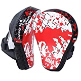 Cheerwing Boxing MMA Punching Mitts Focus Pads, White (1 Pair)
