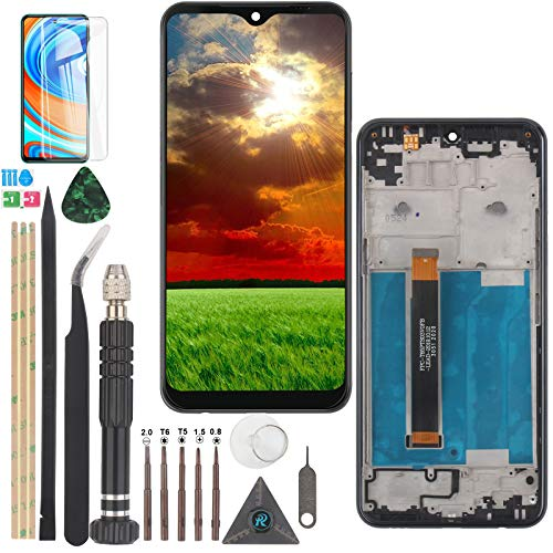 Pantalla LCD para LG K51 LMK500UM LM-X540 Pantalla LCD Digitalizador Táctil Panel de Reemplazo con Herramientas (Negro con Marco)