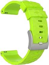 Skryo???????? Pulsera deportiva de silicona transpirable para Suunto Spartan Sport Wrist HR Baro (Green)