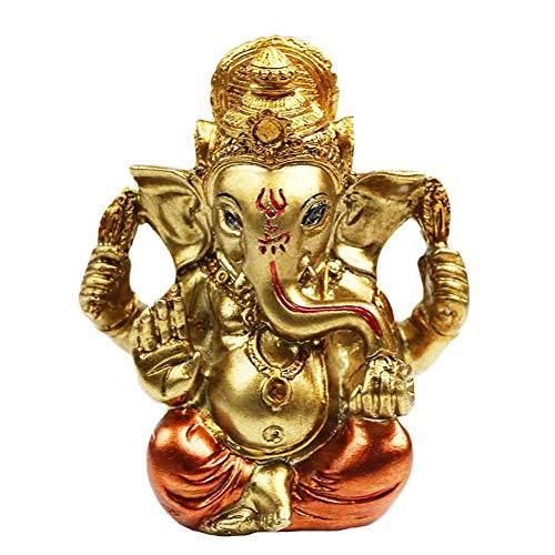 Hindu God Diwali Gifts Decoration - Ganesh Idol Statue for Car Dashboard Decor- India Home Madir Puja Pooja Items