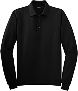 Joe's USA Mens Long Sleeve Polo Shirts in 9 Colors. Regular and Tall Sizes: XS-6XL