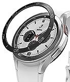 Ringke Bezel Styling Compatible con Protector Samsung Galaxy Watch 4 Classic (42mm) Carcasa Aluminio Adhesiva para Reloj Bisel, Funda Galaxy Watch 4 42mm - 42-15 (AL) Black