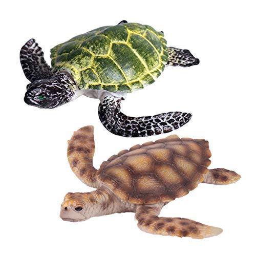 YARNOW 12Pcs Simulación de Juguete de Tortuga Artificial Realista Colección de Mar Océano Tortuga Modelo Educativo Tortuga Mar Favores de Fiesta para Niños Niños