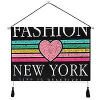 MISCERY タペストリー、スローガングラフィックTシャツ、壁掛けタペストリー壁画 壁飾り 家 リビングルーム ベッドルーム 部屋 おしゃれ飾り モダンなアート