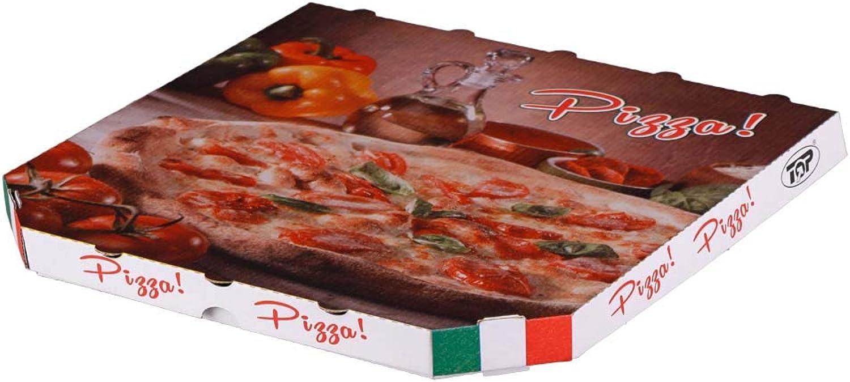 150x Pizzakarton Treviso , Wellpappe, Weiß mit mit mit Pizzamotiv, 325x325x30 mm B01JGLAY2M    | Einzigartig  e441b0