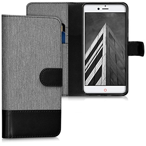 kwmobile ZTE Nubia Z11 mini s Hülle - Kunstleder Wallet Case für ZTE Nubia Z11 mini s mit Kartenfächern & Stand