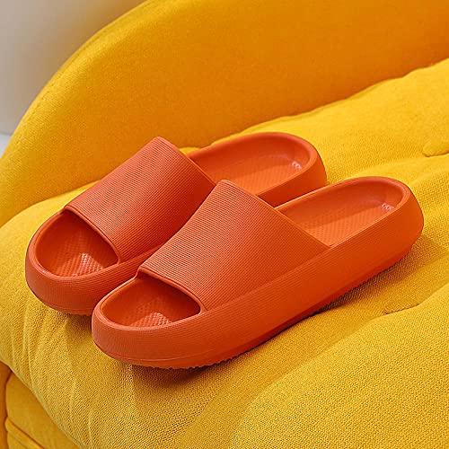 Chausson Pantoufle Sandale Femmes Pantoufles Maison Hommes Intérieur Tapis De Salle De Bain Antidérapant Épais Fond Souple Plateforme Sandales Femmes-Rouge_10