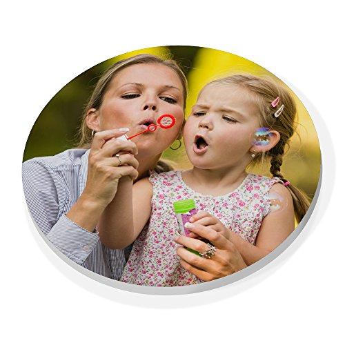 LolaPix Imán de plástico Redondo Personalizado con Foto Texto Imagen Nombre. Regalo Original.Varios Modelos