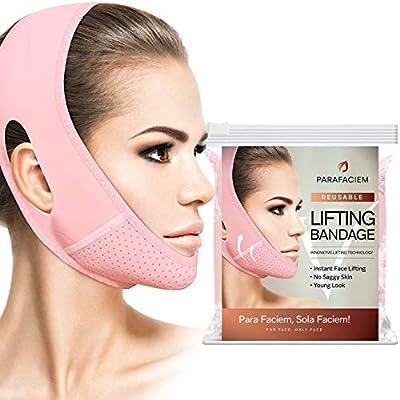 The ParaFaciem Reusable V Line Mask Facial Slimming Strap Double Chin Reducer Chin Up Mask Face Lifting Belt V Shaped Slimming Face Mask
