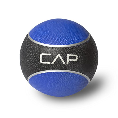 CAP Barbell Rubber Medicine Ball, 6-Pound , Blue