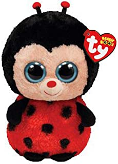 Beanie Boos Big Eyes Plush Izzy The Ladybug Toy Doll 15cm