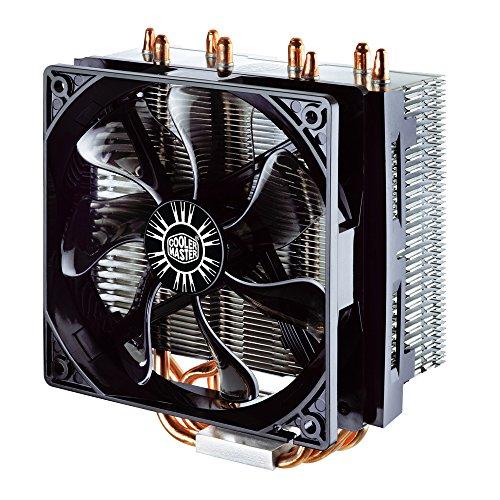 Cooler Master Hyper T4 - Ventiladores de CPU, 4 Heatpipes, 1x Ventilador PWM de 120 mm, 4-Pin Connector, RR-T4-18PK-R1