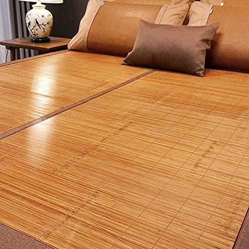 Colchón Bamboo,Cama-colchón Plegable Bedding Alfombras de bambú Colchón Tejido Uso de Doble Cara para el Verano