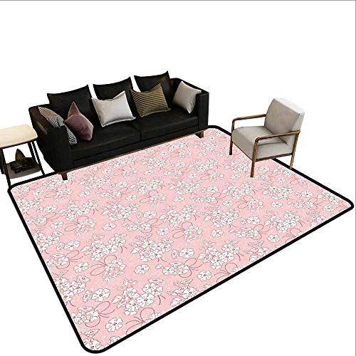 Office Marshal tapijt stoel Cherry Blossom, verse lente weide geur vreugde en liefde teder seizoen bloemen lichtroze groen wit