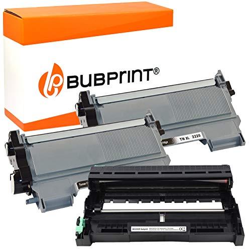 Bubprint Kompatibel Toner und Trommel als Ersatz für Brother TN-2220 DR-2200 für DCP-7055 DCP-7055W DCP-7065DN HL-2130 HL-2135W HL-2240 HL-2240D HL-2250DN MFC-7360 MFC-7360N MFC-7460DN 2er-Pack