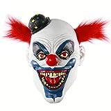 Máscara de Hophen Crazy Clown para disfraz de Halloween, para cosplay, divertida máscaras de monstruo para decoración de fiesta