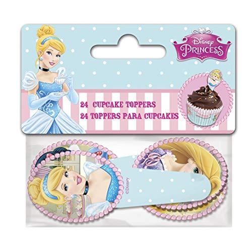 Boyztoys 24Toppers per Cupcake, Decorazioni di Carta per Torta a Tema Principesse Disney