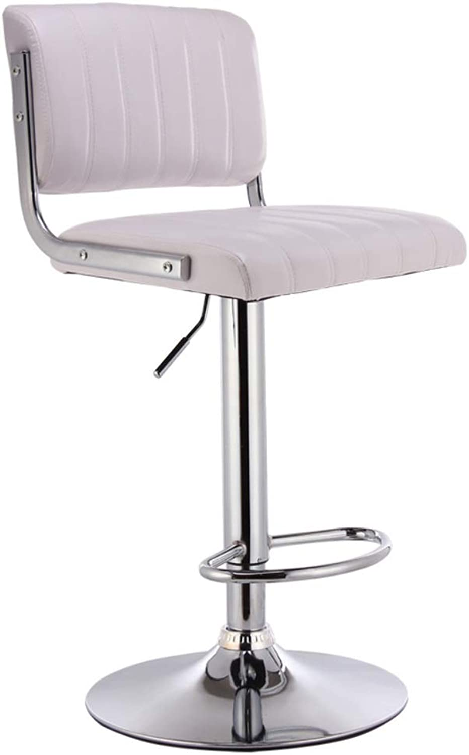 c1d121570482 DULPLAY Swivel Stool bar Bar stools,Adjustable Height PU with Adjustable  Foot Rest Modern Barstool Chairs,Counter Comfy -White 40x83cm(16x33inch)  Leather ...