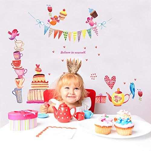 Pegatin muurstickers, creatieve kunst, verjaardagskaarten, DIY kamer, kinderkamerlabel