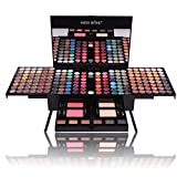180 Colors Professional Eye Shadow Palette Makeup Set with Brush Mirror Shrink EyeShadow Cosmetic Makeup Case with Face Powder, Blush, Eyeliner, Eyebrow Powder, Mirror and Eyeshadow Brush (004Y)
