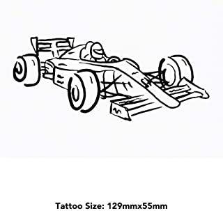 Large 'F1 Race Car' Temporary Tattoo (TO00033760)