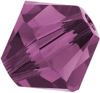50pcs Authentic 6mm Swarovski Crystals 5328 Xillion Bicone Crystal Beads for Jewelry Craft Making (Amethyst) SWA-b611