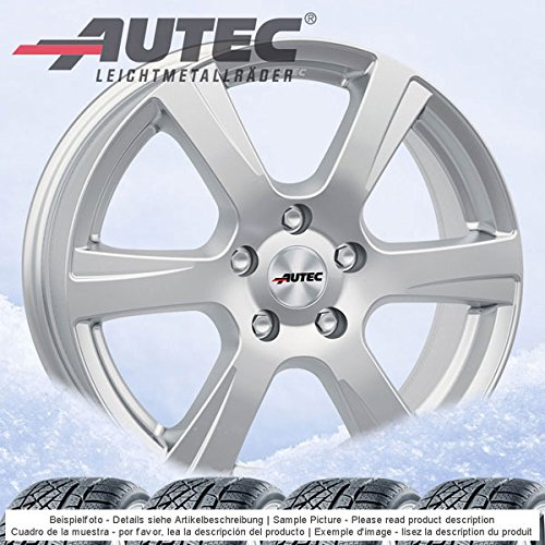 4 Winterräder Autec Polaric ECE 6.5Jx16 ET41 5x105 silber mit 205/55 R16 91H Semperit Speed-Grip 2 für Opel Astra-K -Sports Tourer