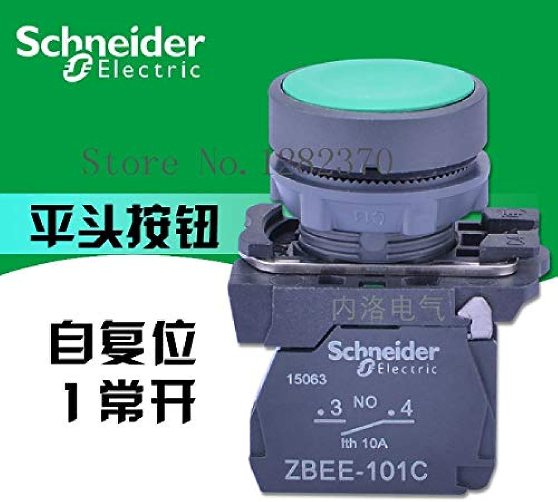[ZOB] Original Button Switch 22mm XB5AA31C Green Flat Head selfReset 1 NO ZBEE101C 20pcs lot