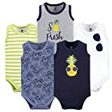 Hudson Baby Baby Cotton Sleeveless Bodysuits, Pineapple 5-Pack, 18-24 Months