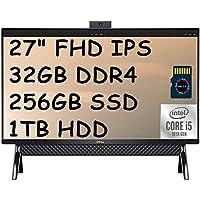 2020 Flagship Dell Inspiron 27 7790 オールインワン デスクトップコンピューター、27インチ FHD IPS、10th Gen Intel Quad-Core i5-10210U (Beat i7-7500U)、Win 10 + Delca 16GB Micro SDカード 32GB DDR4 I 256GB PCIe SSD I 1TB HDD