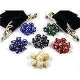shibby 42 Dadi poliedrici per Giochi di Ruolo e da Tavolo di Colore Multicolore con Sacche...