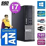 DELL PC OptiPlex 9020 SFF Intel Core i7-4770 RAM 16Go SSD 120Go Windows 10 WiFi...