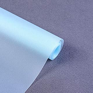 Refrigerator Liner Non-Adhesive EVA Cabinet-Drawer-Shelf-Liners Waterproof Kitchen Fridge Pad and Cupboard Mat, Non-Slip Can be Cut Placemats, 17.7×59