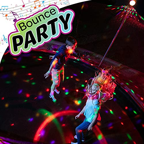 ThrillZoo Bounce Party – Trampoline Lights & Music – Kids Fun Summer Nightime Trampoline Accessories Game