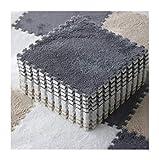LXZFJW Azulejos de espuma de enclavamiento rompecabezas alfombras azulejos EVA Fuzzy Mat Suelo EVA Pisos Conjuntos de Suelo Gris 30×30×0.6cm 30pcs