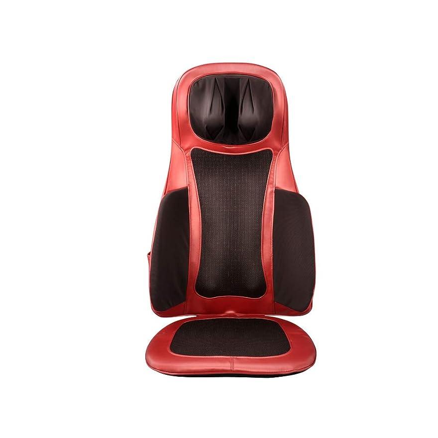 炭水化物現れる罪電気加熱式指圧バックマッサージ、肩、背中、および上肢サポート、深部筋肉緩和のためのローリング振動、全身多機能マッサージクッション-赤ワイン、ブラウン