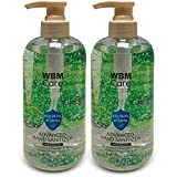 WBM Care 8645J-2PK Hand Plant Based Antibacterial Sanitizer-Protects from Germs & Bacteria, (Pack of 2), 10.6 Oz Each|, 2 Piece