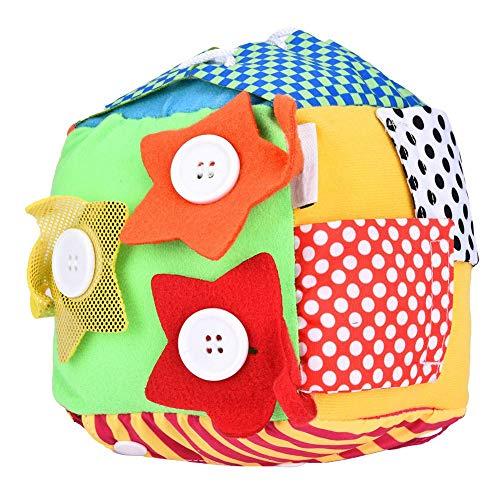 Zerodis Juguete de dados de tela para niños pequeños educativos vestido de juguete bebé desarrollo cerebro juguete zapato de encaje juguete para niños aprendizaje de cordones