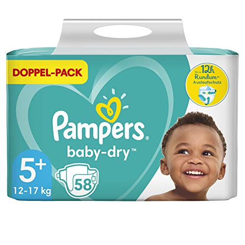 Pampers Baby Dry Gr.5+ Junior Plus 12-17kg Doppelpack