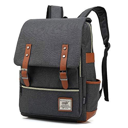 M-hwbb Mochila escolar, mochila de viaje unisex, liviana y clásica, resistente al agua, para mochila, para mochila, para laptop de 15 pulgadas (color : Style H)