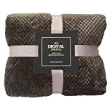 ManxiVoo Plaid Fleece Throw Blanket for Couch Mesh Flannel Beds Blankets Fluffy Throw Blanket (Coffee, S)