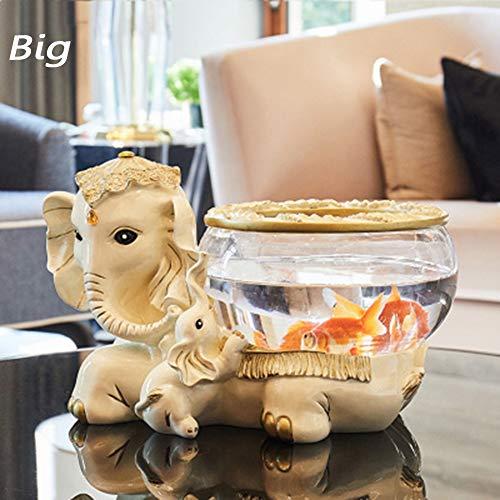 Xianw Kit De Tanque De Peces De Vidrio LED, Decoración De Arte De Resina Dormitorio DIY Decoraciones Caseras,C