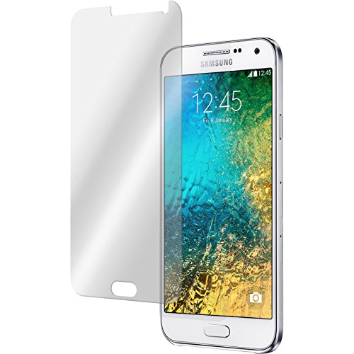 PhoneNatic 1 x Glas-Folie klar kompatibel mit Samsung Galaxy E7 - Panzerglas für Galaxy E7