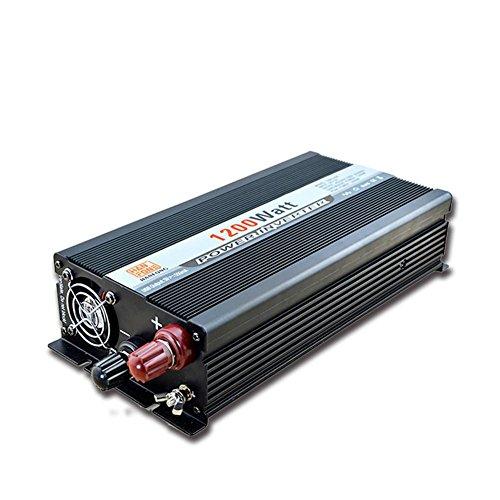 BQ Convertisseur @ 1200 W Power Inverter DC 12V à AC Sortie 220V Convertisseur Alimentation avec adaptateur allume-cigare (Noir)