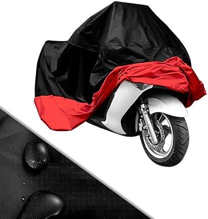 Funda Protector Talla XXL (265cm) Cubierta para Moto/Motocicleta Negro y Rojo