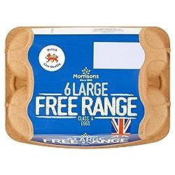 Morrisons Free Range Large Eggs, 6 Pack