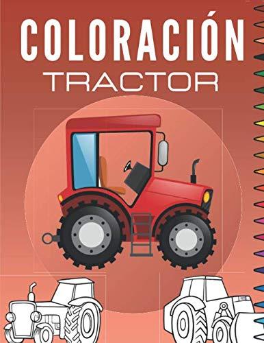 coloración Tractor: Libro para colorear niños | Dibujos de Tractores y Maquinaria Agrícola - Para Niños y Niñas | Regalo para los niños pequeños.
