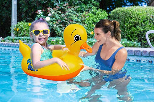 Inflatable Swimming Pool Swim Float for Baby - Pool Float, Inflatable Baby Pool Float, Baby Swimming Float, Inflatable Pool Float Swimming Ring, 3month - 6years Old Baby Yellow Duck Swimming Pool Toys